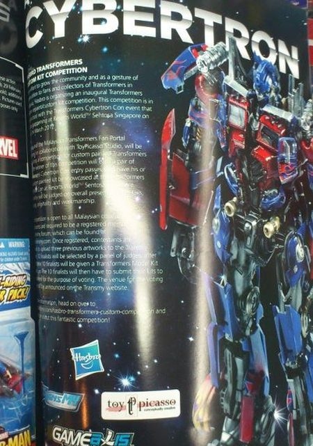 Hasbro Transformers Custom Competition Featured in GameAxis Malaysia