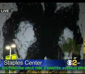 Decepticon Crashes Into Staples Center
